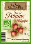 Le jus de pomme biologique